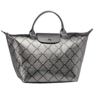 Longchamp Le Pliage Travel Bag (Steel Metal) Shoes