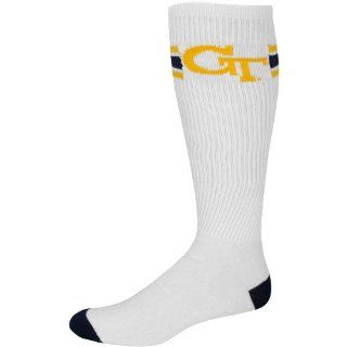 Georgia Tech Yellow Jackets White Retro Knee High Tube Socks Shoes