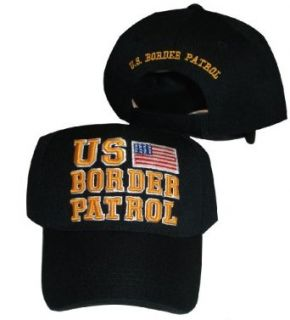 United States Border Patrol With American Flag Black