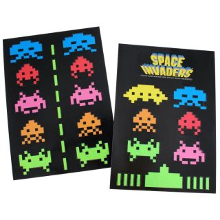 SPACE INVADERS   Pack aimants   Pack de 34 aimants avec motifs Space