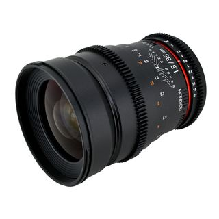 Rokinon CV35 35mm T1.5 Cine VDSLR Wide Angle Lens with De clicked