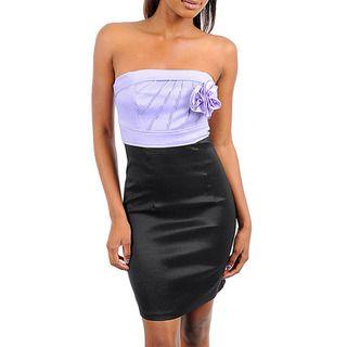 Stanzino Womens Lilac Two tone Strapless Dress