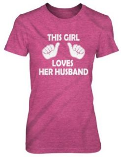 This Girl Loves Her Husband womens funny wedding marriage