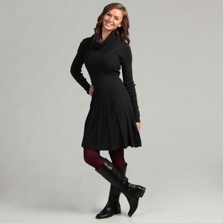 Calvin Klein Womens Charcoal Sweater Dress