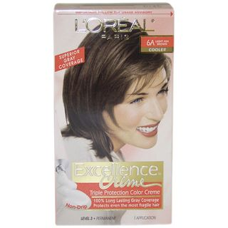 Oreal Excellence Creme Pro Keratine #6A Light Ash Brown Cooler Hair