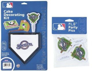 MLB Milwaukee Brewers Lay on Cake/Cupcake Decorations