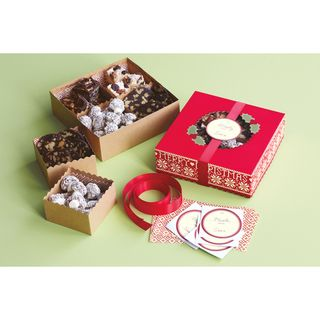 Compartment Treat Boxes 6X6 Makes 6 Cottage Christmas
