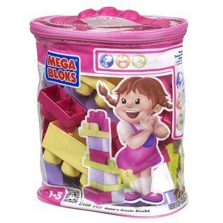 Mega Bloks 24 piece Pink Bag Play Set