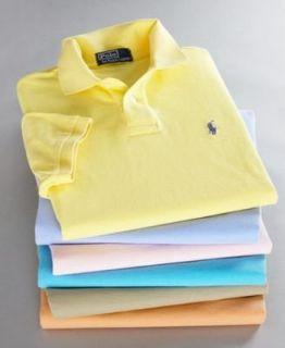 Ralph Lauren Short Sleeve Custom Fit Mesh Polo Shirt XXL BLACK Shoes