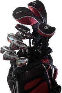 Wilson Deep Red Mens 18 piece Golf Set and Bag
