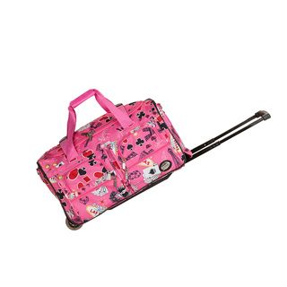 Rockland Deluxe 22 inch Pink Las Vegas Carry On Rolling Duffle Bag