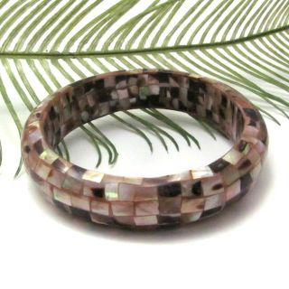 Inlaid Serene Naural Brown Lip Shell Bracele (Philippines) oday $