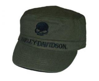 Harley Davidson® Mens Skull Painters Flat Top Hat Cap