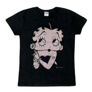 Betty Boop   Betty Pulp Juniors T Shirt: Clothing