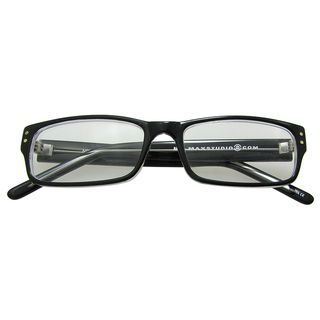 by Max Studio Black Crystal Mens Reading Glasses