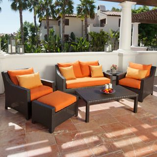 RST Outdoor Tikka 6 Piece Patio Love Seat and Club Chairs Set