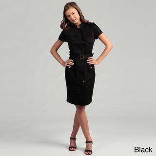 Calvin Klein Womens Cotton Blend Short Sleeve Dress