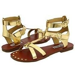 Steve Madden Broose Gold Metallic Sandals