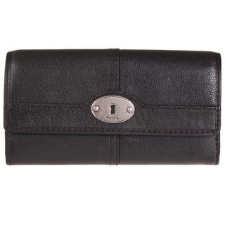 Fossil Womens Vintage Leather Tri fold Wallet