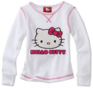 Hello Kitty Girls 2 6X Thermal Top with Chain Stitch