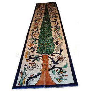Pine Tree Mosaic 20 tile Wall Mural