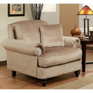 Abbyson Living Caprice Fabric Nailhead Trim Armchair