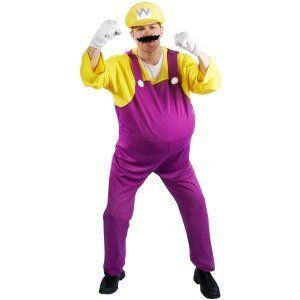 Super Mario Bros.   Wario Adult Costume Size X Large