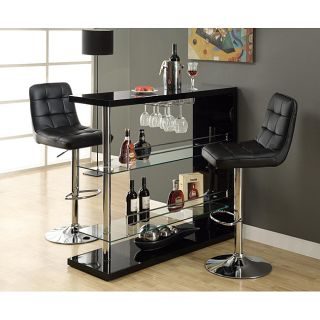 Black and Chrome Metal 48 inch Bar Table