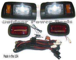 Premium Club Car DS Golf Cart Headlight  Tail Light Kit