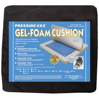 Hudson Pressure Eez Gel foam 20 x 18 x 2 inch Seat Cushions (Pack of 4