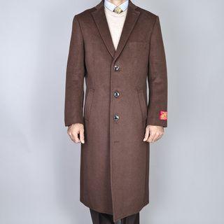 Mantoni Mens Wool and Cashmere Winter Top Coat