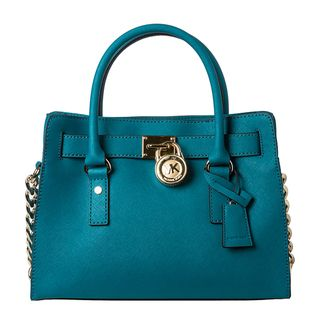 MICHAEL Michael Kors Small Hamilton Turquoise Saffiano Leather