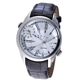 Haurex Italy Mens Big Fly Stainless Steel Dual Time Watch