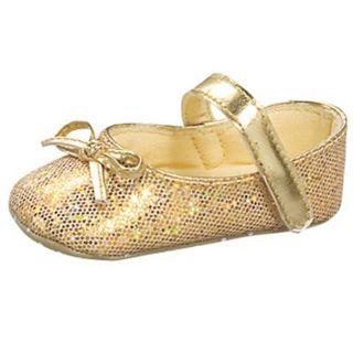 Baby Girl Gold Glitter Shoes