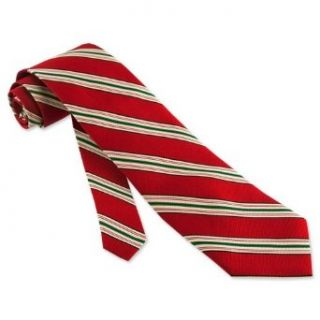 Red and White Repp Stripe Tie by Brent Morgan   Red Silk