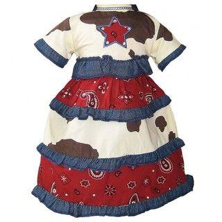 Ann Loren Cowgirl Dress Western Costume For 18 inch American Girl