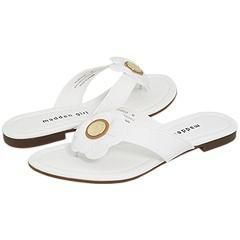 Madden Girl Flowwer White Patent Sandals