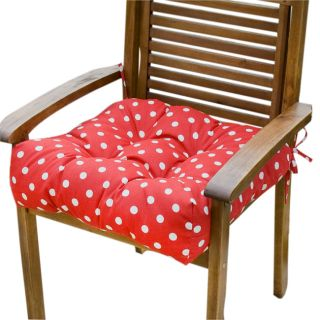 Red Polka Dot 20 inch Outdoor Chair Cushions (Set of 2)