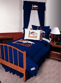 NFL Denver Broncos Complete Bedding Set Full Size Sports