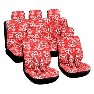 Hawaiian Red 16 piece Car Seat Cover Set