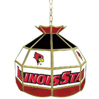NCAA Illinois State 16 Inch Stained Glass Tiffany Lamp