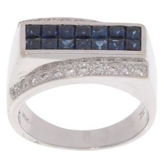 Encore by LeVian 18 kt. White Gold Diamond and Sapphire Ring
