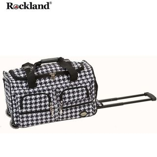 Rockland Kensington 22 inch Carry On Rolling Upright Duffel Bag