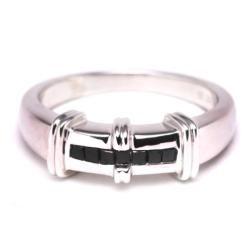 Sterling Silver 1/3ct TDW Black Diamond Ring