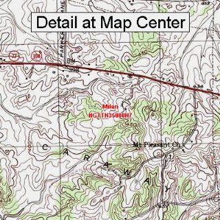 USGS Topographic Quadrangle Map   Milan, Tennessee (Folded