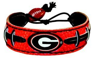 Georgia Bulldogs Power G Logo Team Color Football Bracelet