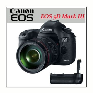 Canon EOS 5D Mark III 22.3 MP CMOS Digital SLR Camera + Canon Battery