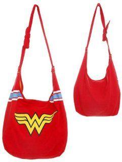 Wonder Woman DC Comics Logo Super Hero Hobo Bag, Red, One