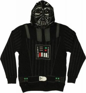 Star Wars Darth Vader Costume Full Zip Hoodie Sweatshirt
