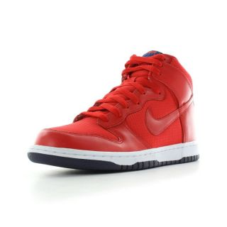 Nike   Dunk high   taille 41 Rouge et blanc   Achat / Vente BASKET